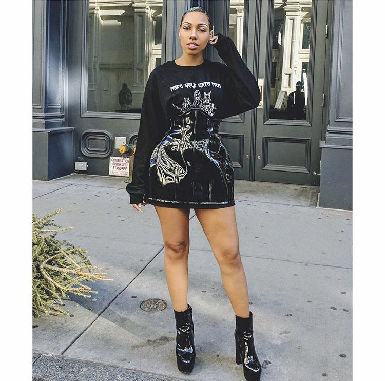 Cardi B In Grayscale Fashion Rebellion